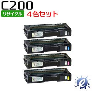【4色セット】【リサイクルトナー】 SP トナーカートリッジ C200 リコー用 (即納再生品) 【沖縄・離島 お届け不可】