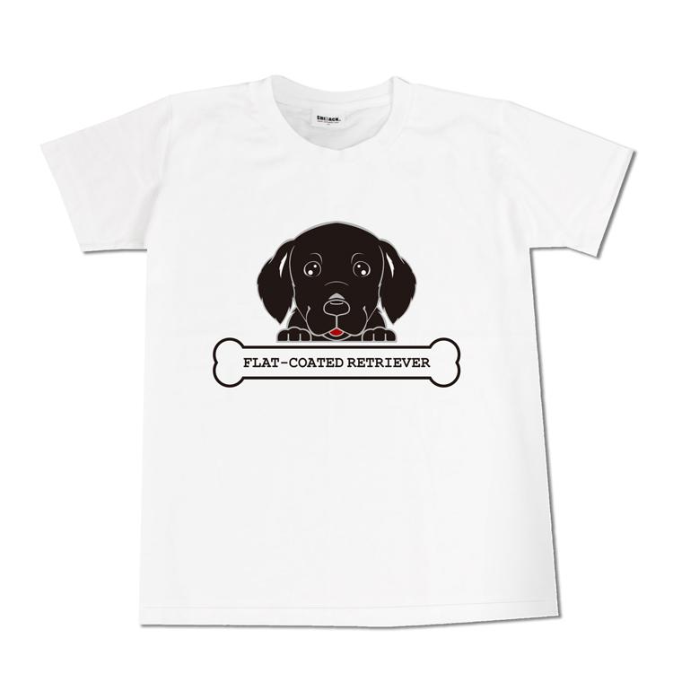 【4/20だけ!ポイント5倍】フェイス Tシャツ フラットコーテッドレトリーバー 飼い主様ウェア シルエット お散歩 半袖 春夏 犬グッズ ◎ ギフト プレゼント ※ネーム入り商品ではありません プレゼント ギフト