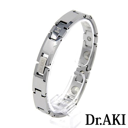 Dr.AKI ゲルマニウム ブレスレット SilverBT009VS(シルバー)