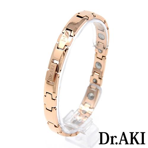 Dr.AKI ゲルマニウム ブレスレット GoldBT010VP(ゴールド)M6314(2,3,4) W631(39,40,41)