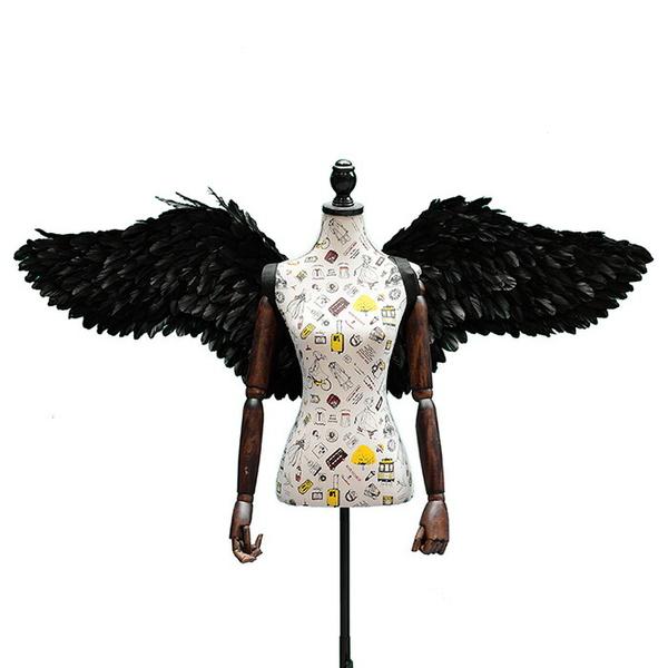 天使の羽 コスプレ道具 羽 翼 wing ウイング ホワイト ブラック 80cm 妖精 悪魔 ファッションショー パーティーグッズ 撮影 cosplay用 コスプレ COSPLAY コスチューム ハロウィン クリスマス lg013h2h2h2/代引不可