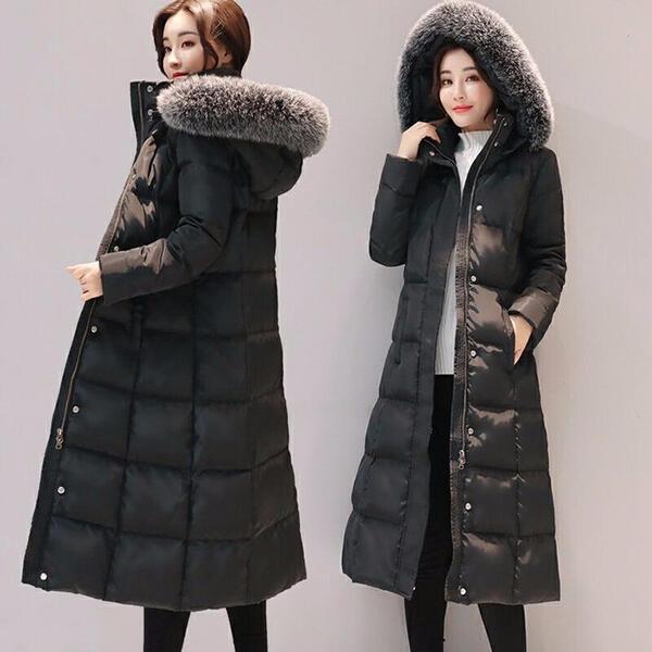 5L ダウンコート 超ロング ダウンジャケット Aライン 帽子付き フード 撥水 ファー付き ファー外せる 軽量 大きいサイズ 黒 ブラック 無地 厚手 アウター 冬服 防寒着 おしゃれ あったか レディース 女性用da516zec6kc /代引不可