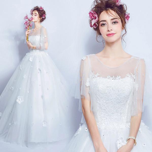 【送料無料】ブライダルドレス ストラップチュール ウェディングドレス オフショルダードレス エンドブティック 締上げタイプ da656f0c6kc/代引不可