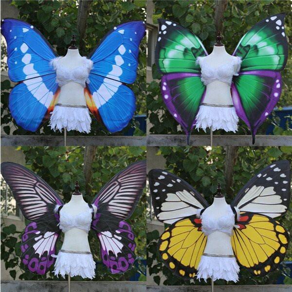 蝶の翼 コスプレ道具 蝶の翼 妖精の翼 プリンセスの翼 華麗さ wing ウイング 120cm 天使みたい 妖精 ファッションショー パーティーグッズ 撮影 ステージ道具 イベント 文化祭 cosplay用 コスプレ COSPLAY コスチューム ハロウィン クリスマスdd010l6l6t2