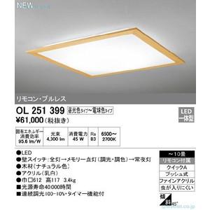 大幅値下げランキング 限定Special Price オーデリック照明器具 LED シーリングライト リモコン付 8~10畳 OL251399 オーデリック