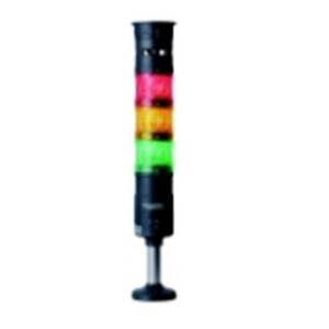 LED表示灯(φ60積層式) 円形取付台付 組立完了品 XVU型(赤,橙,緑)デジタルシグナリング【XVU6B3R0GSH】