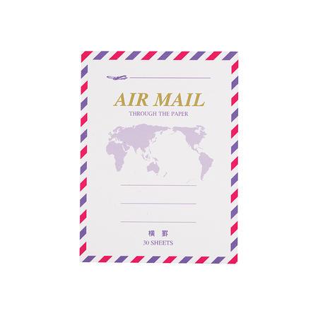 定番のエアメールも そのまま小さくなりました 贈呈 正規激安 横罫 エアメール便箋ミニ