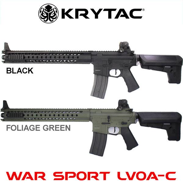 【30日保証付き】KRYTAC クライタック WAR SPORT LVOA-C BK(ブラック) BK(ブラック) BK(ブラック) FG(フォリッジグリーン) FET搭載 電動ガン 本体のみ 4571443141170 4571443137142 最強の剛性 ウォースポーツ エルボア 18歳以上 0730gn 686