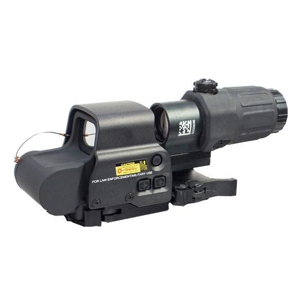 EoTech EXPS-3タイプ ドットサイト/G33-STSタイプ 3倍ブースターセット 無刻印 BK 光学機器 ダット エアガン エアーガン ブラック 電動ガン ライフル ガスガン対応 0909gn