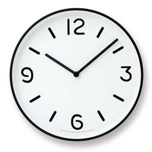 Lemnos MONO CLOCK A ホワイト LC10-20A_WH LC10-20A_WH(レムノス)【※メール便NG】