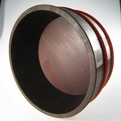 椹 / a woodcut print lacquer bath basin [a polyurethane hoop]