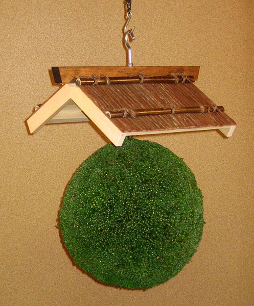 杉玉30センチ+杉皮張笠セット