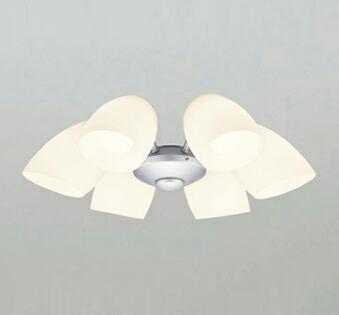 オーデリック ODELIC 【シーリングファン オプション ACモーターファンシリーズWF807LC1 マットシルバー色灯具[乳白ケシガラス・6灯] 調光・電球色・~8畳】