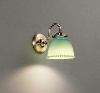 オーデリック ODELIC 【ブラケットライトOB255270LC オールドミルクガラス ジェード色 電球色 調光・白熱灯60W相当】 ミルクガラスの魅力が溢れるあかりです