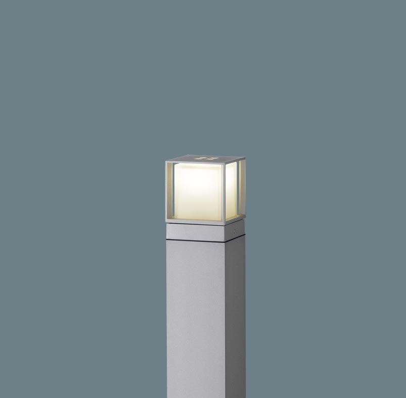 エクステリア 屋外 照明 ライト パナソニック 【 ガーデンライト XLGE540SLU スクエアタイプ 地上高60cm シルバーメタリック 】 ポーチライト アプローチライト ポールライト