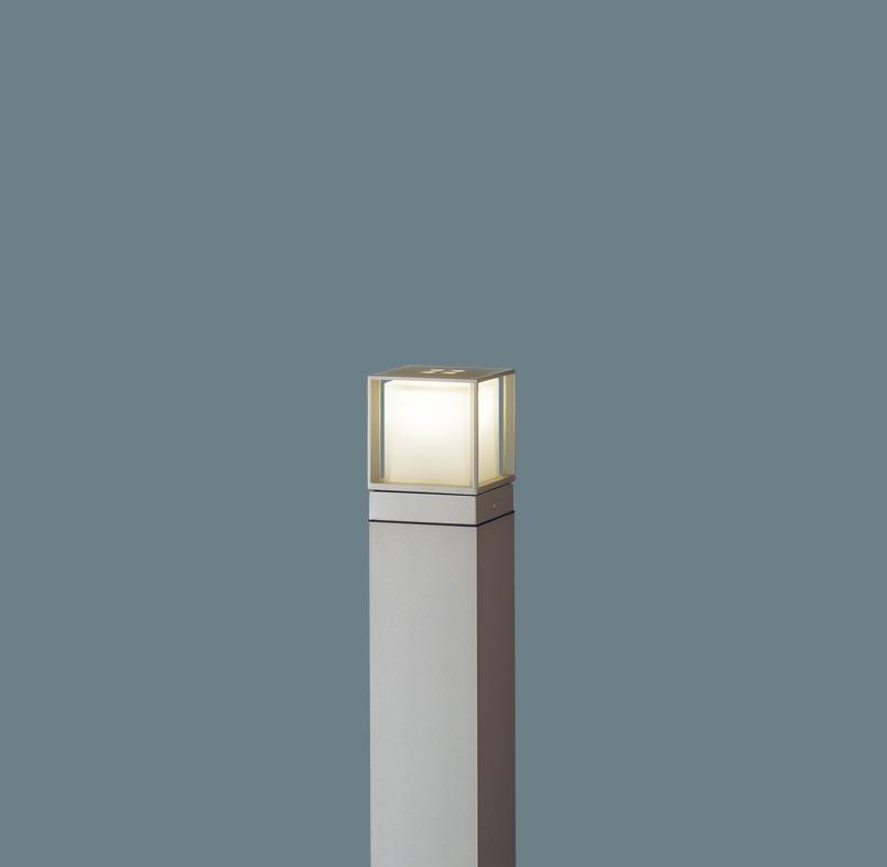 エクステリア 屋外 照明 ライト パナソニック 【 ガーデンライトXLGE540YLZ スクエアタイプ 地上高60cm プラチナメタリック 】 ポーチライト アプローチライト ポールライト