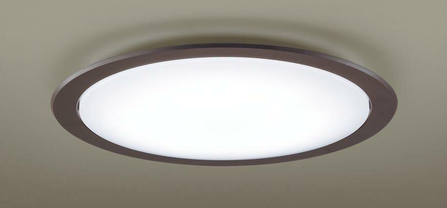 パナソニック Panasonic 【シーリングライトLGC51124 調光・調色(昼光色~電球色)【アクリルカバー】乳白つや消し 【枠】ダークブラウン ~12畳】