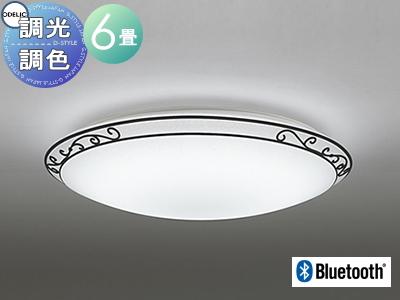照明 おしゃれ ライトオーデリック ODELIC 【シーリングライトOL251180BC 電球色~昼光色軽やかなフレンチカントリー Bluetooth対応機種 調光・調色タイプ・~ 6畳】