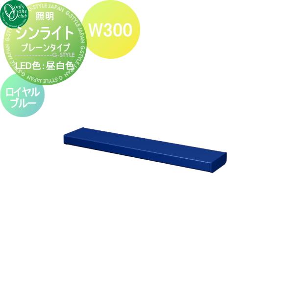【シンライト 白色 オンリーワンエクステリア Light ロイヤルブルー(YB)】 W300 プレーンタイプ 照明 Thin ポーチライト