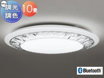 照明 おしゃれ ライトオーデリック ODELIC 【シーリングライトOL291154BC アクリル(透明・カット模様入) 調光・調色 電球色~昼光色 Bluetooth対応機種~10畳】 上品なカットガラス風のきらめきをシーリングに