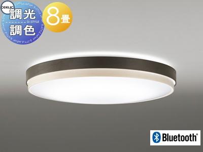オーデリック ODELIC 【シーリングライトOL291297BC 木材(エボニーブラウン色 調光・調色 電球色~昼光色 Bluetooth対応機種~8畳】 エボニーブラウンと白木のコントラスト天井照明 おしゃれ ライト