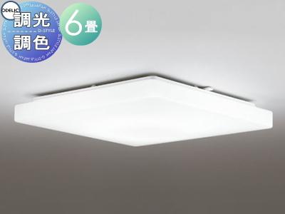 照明 おしゃれ ライトオーデリック ODELIC 【シーリングライトOL251409 電球色~昼光色スマートなプレーンデザイン 調光・調色タイプ・~ 6畳】