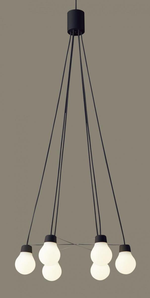 無料プレゼント対象商品!パナソニック Panasonic 【LAMP DESIGN シリーズ シャンデリアLGB19628BCE1 電球色LGB19629BCE1 温白色ブラック 60形電球6灯器具相当・~6畳】