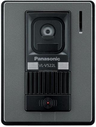 Panasonic(パナソニック)カラーテレビドアホン 【オプション】【別売カメラ玄関子機】【VL-V522L-S】【VLV522LS】【LEDライト搭載】【逆光補正付】 【インターホン】【ドアホン】