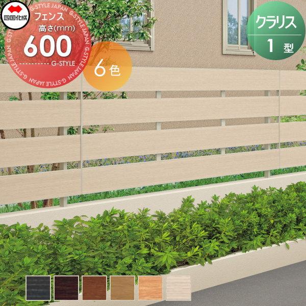 アルミフェンス 四国化成 【クラリスフェンス1型 フェンス本体 H600 】 CLF1-0620  ガーデン DIY 塀 壁 囲い エクステリア