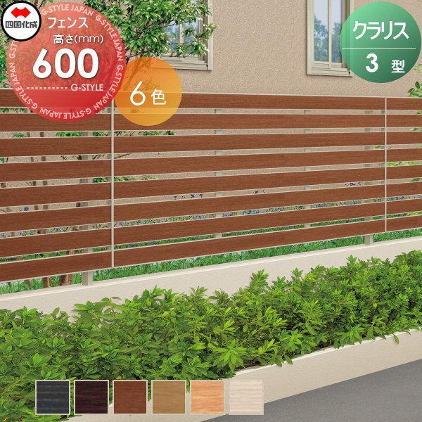 アルミフェンス 四国化成 【クラリスフェンス3型 フェンス本体 H600 】 CLF3-0620  ガーデン DIY 塀 壁 囲い エクステリア
