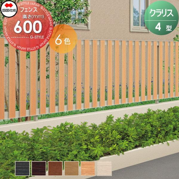 アルミフェンス 四国化成 【クラリスフェンス4型 フェンス本体 H600 】 CLF4-0620  ガーデン DIY 塀 壁 囲い エクステリア