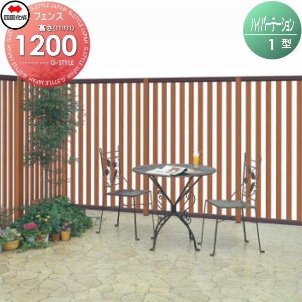 アルミフェンス 四国化成 【ハイパーテーション1型 フェンス本体 H1200】 HPT1-1212 ガーデン DIY 塀 壁 囲い エクステリア