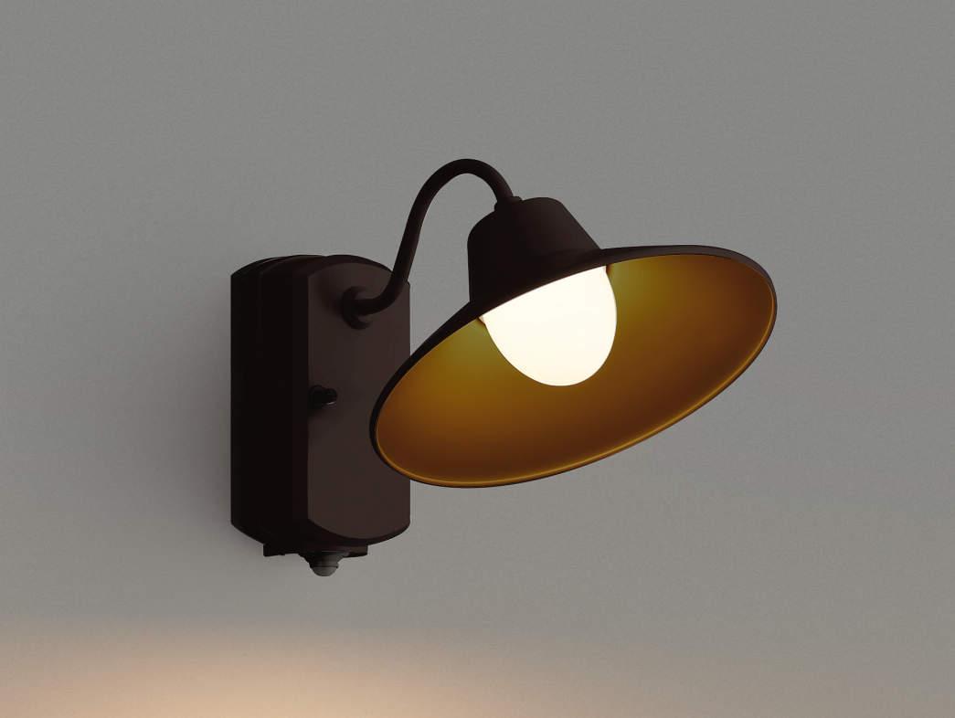 エクステリア 屋外 照明 ライト【三協アルミ】 照明器具 ポーチライト【 PD40型 ダークブロンズ 人感・照度センサー付き】