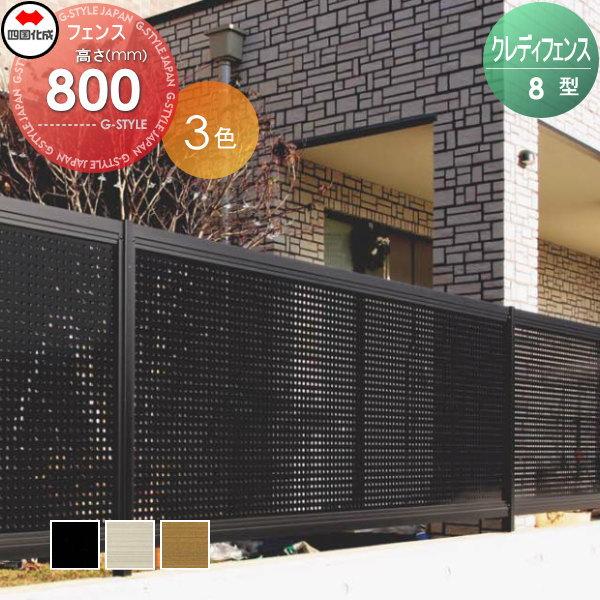 アルミフェンス 四国化成 【クレディフェンス8型 フェンス本体 H800】パンチングタイプ  CDF8-0820  形材フェンス 目隠しフェンス ガーデン DIY 塀 壁 囲い エクステリア