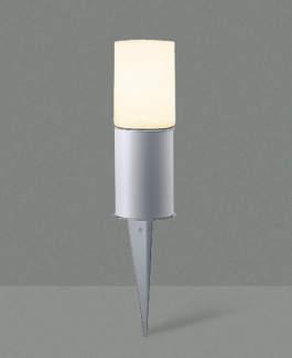 エクステリア 屋外 照明 ライト【三協アルミ】 照明器具 ガーデンライト【 GS9型 シルバー ブラック スパイクタイプ】