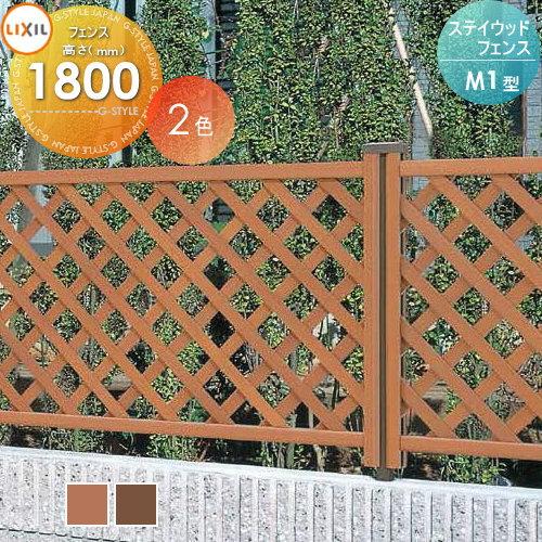 木樹脂フェンス LIXIL リクシル ステイウッドフェンス【M1型 フェンス本体 1枚 T-18】 ガーデン DIY 塀 壁 囲い エクステリア TOEX