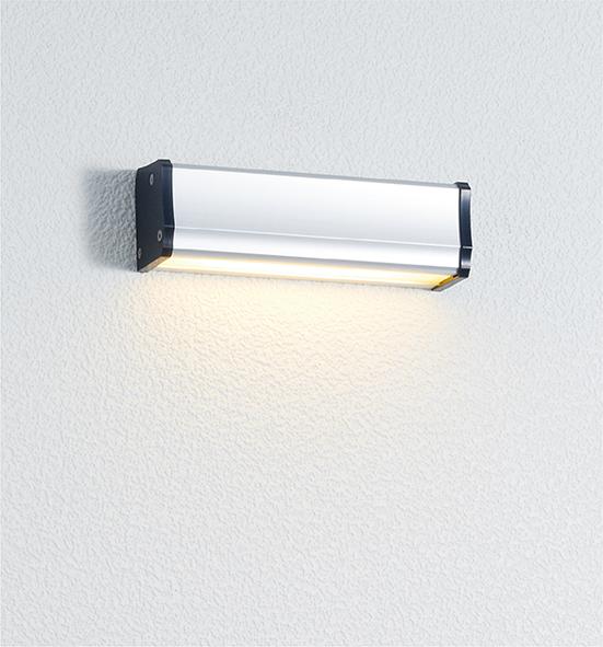 ユニソン(unison)エクステリア 屋外 照明 ライト 12V照明 表札灯 【エコルトウォールライト 横幅150mmサイズ シルバー EA0700412】 エコルトウォールライト