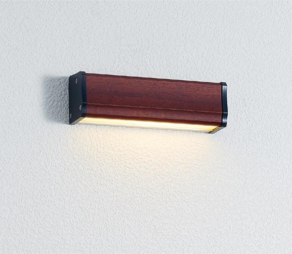 ユニソン(unison)エクステリア 屋外 照明 ライト 12V照明 表札灯 【エコルトウォールライト クルム 横幅150mmサイズ マホガニー EA0700442】 エコルトウォールライト