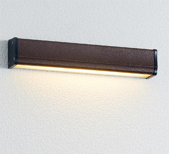 ユニソン(unison)エクステリア 屋外 照明 ライト 12V照明 表札灯 【エコルトウォールライト クーゼ 横幅250mmサイズ レザーブラウン EA0700752】 エコルトウォールライト