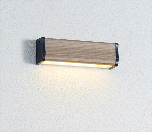 ユニソン(unison)エクステリア 屋外 照明 ライト 12V照明 表札灯 【エコルトウォールライト クルム 横幅150mmサイズ タモ EA0700452】 エコルトウォールライト