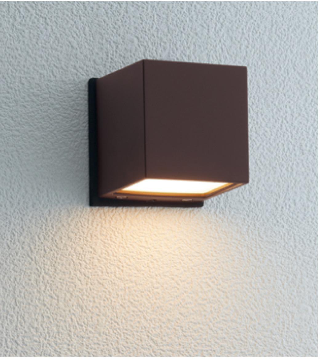 ユニソン(unison)エクステリア 屋外 照明 ライト 12V照明 表札灯 【エコルトウォールライト キューブライト ラスティブラウン EA0101752】 エコルトウォールライト