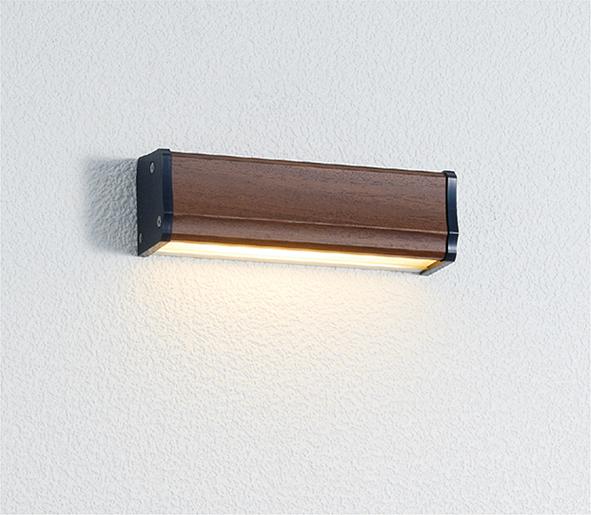 ユニソン(unison)エクステリア 屋外 照明 ライト 12V照明 表札灯 【エコルトウォールライト クルム 横幅150mmサイズ ウォールナット EA0700462】 エコルトウォールライト