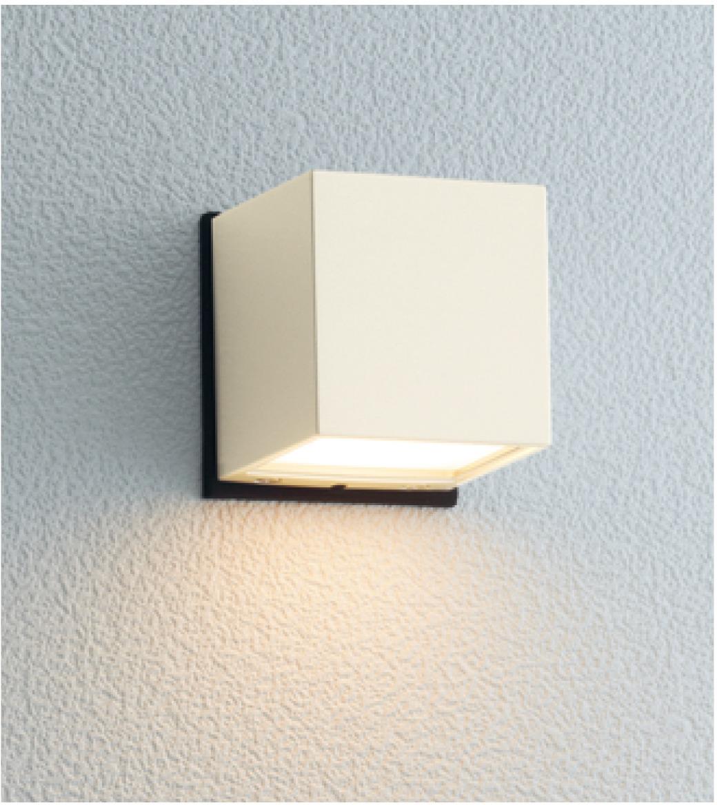 ユニソン(unison)エクステリア 屋外 照明 ライト 12V照明 表札灯 【エコルトウォールライト キューブライト オフホワイト EA0101742】 エコルトウォールライト