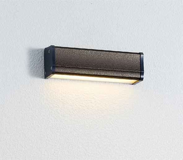 ユニソン(unison)エクステリア 屋外 照明 ライト 12V照明 表札灯 【エコルトウォールライト イール 横幅150mmサイズ レザーグレー EA0700622】 エコルトウォールライト