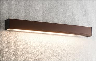 ユニソン(unison)エクステリア 屋外 照明 ライト 12V照明 表札灯 【エコルトウォールライト 横幅390mmサイズ ブラウン EA0700352】 エコルトウォールライト