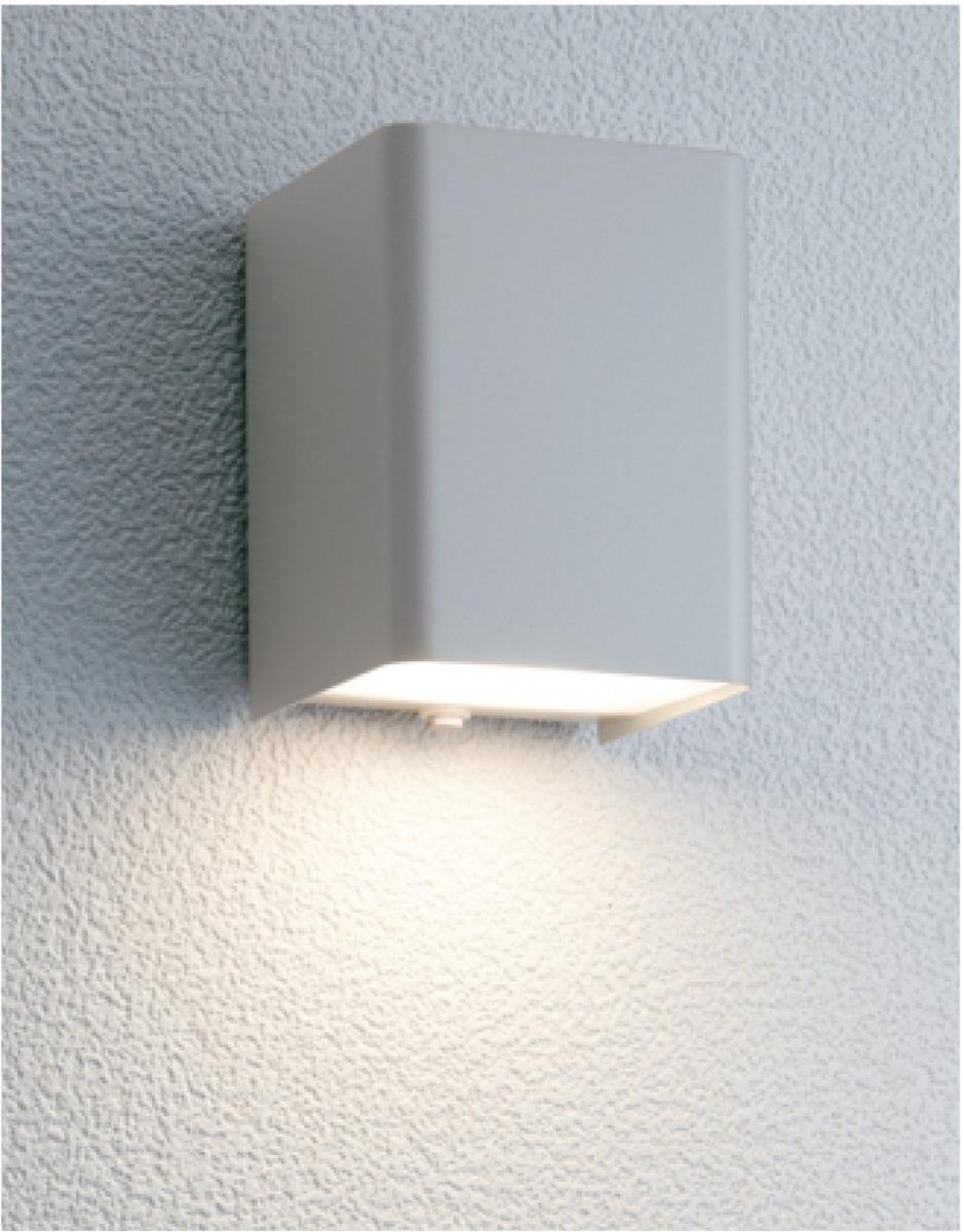ユニソン(unison)エクステリア 屋外 照明 ライト 12V照明 表札灯 【エコルトウォールライト キューブライト シルバー EA0100712】 エコルトウォールライト