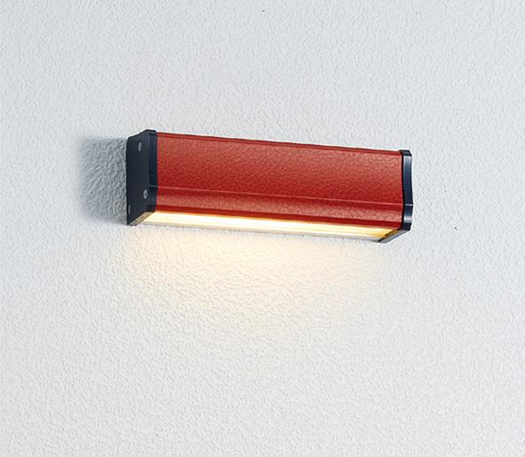 ユニソン(unison)エクステリア 屋外 照明 ライト 12V照明 表札灯 【エコルトウォールライト イール 横幅150mmサイズ レザーレッド EA0700692】 エコルトウォールライト