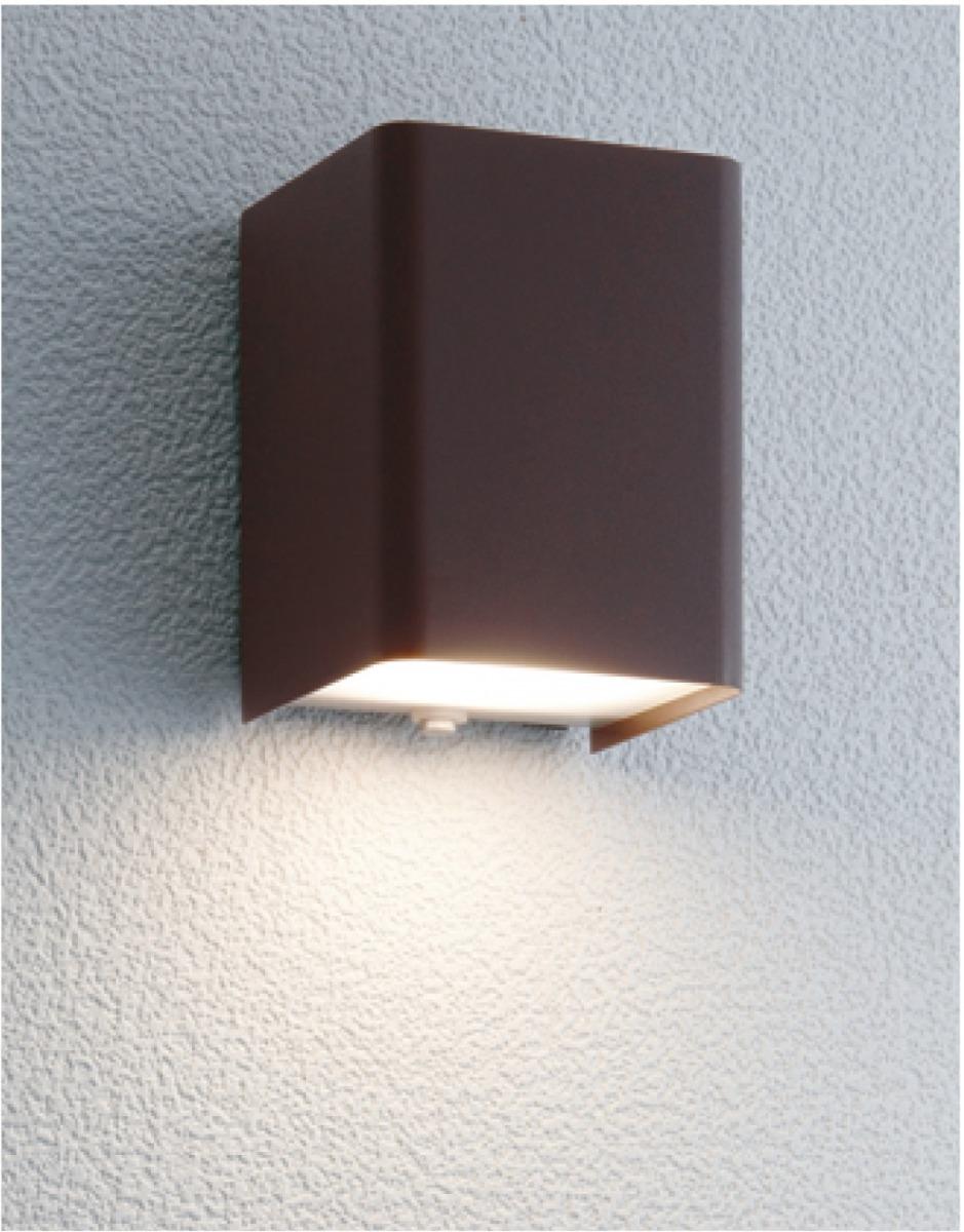 ユニソン(unison)エクステリア 屋外 照明 ライト 12V照明 表札灯 【エコルトウォールライト キューブライト ラスティブラウン EA0100752】 エコルトウォールライト