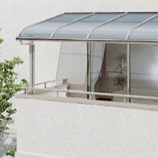 テラス屋根 YKKap YKK 工事付【ヴェクターR テラス屋根 2階用幅1m85cm×奥行87cm×柱の高さ2m51cm】