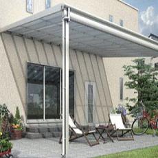 テラス屋根 YKKap YKK 工事付【ヴェクターF テラス屋根 大型幅1m85cm×奥行2m67cm×柱の高さ2m50cm】